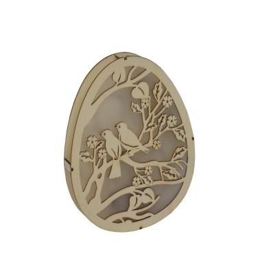 Dekoracyjne jajko rzeźbione Gąski