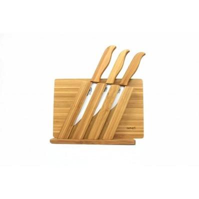 Kerámia kés + bambusz vágódeszka