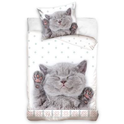 Pościel bawełniana Śpiący kotek