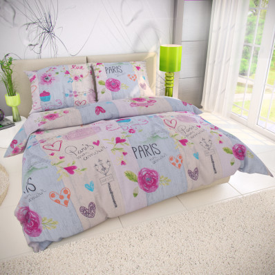 Lenjerie de pat din bumbac Mon Amour