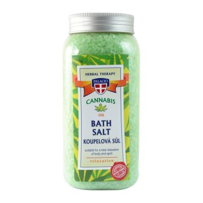 Ziołowa sól do kąpieli z olejem z konop