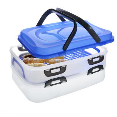 Pudełko piknikowe z uchwytami 2 piętra