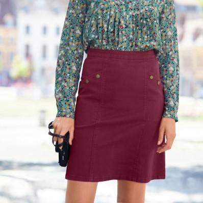 Zapínacia rozšírená sukňa