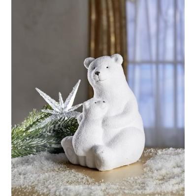 """Sedící lední medvěd """"Otec s medvídětem"""""""
