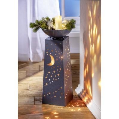 """LED stĺp na rastliny """"Mesiac a hviezdy"""""""