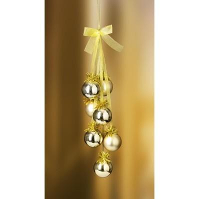Aranyszínű gömb függődísz