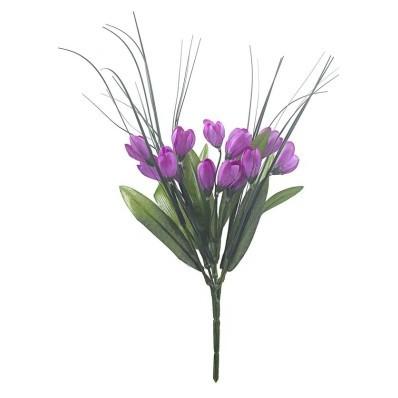 Bukiet fioletowych krokusów