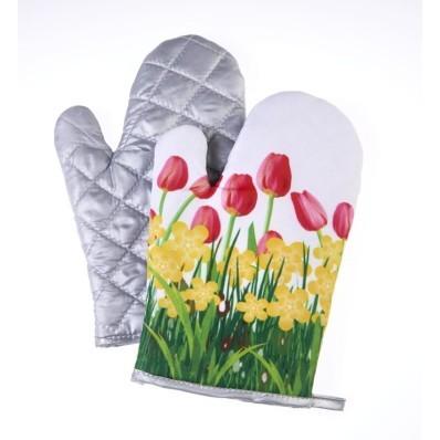 Rękawice kuchenne Tulipany