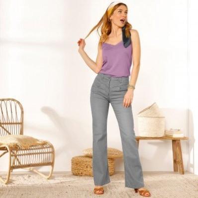 Zvonové džínsy, zapratý efekt,  ekologické spracovanie