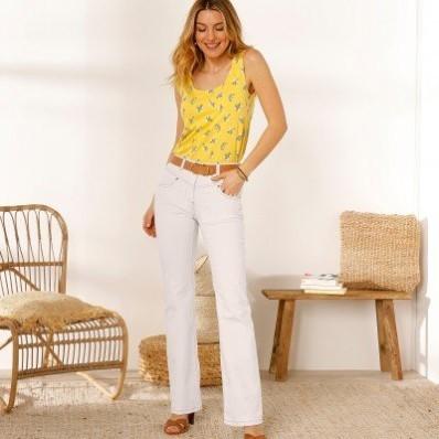 Zvonové džínsy,  ekologické spracovanie
