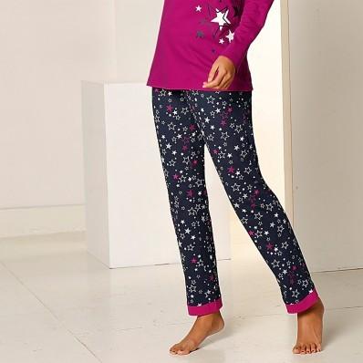 Nohavice s potlačou hviezd, bavlnený džersej