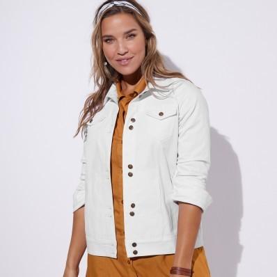 Barevná džínová bunda