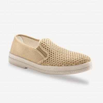 Plátené ažúrové papuče