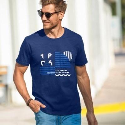 Tričko so stredovou potlačou a krátkymi rukávmi