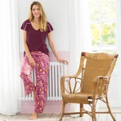 Pyžamové široké nohavice s potlačou