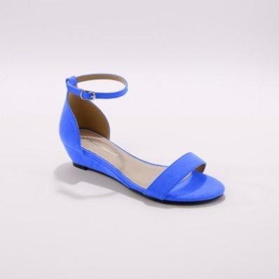 Sandály na klínku, modré