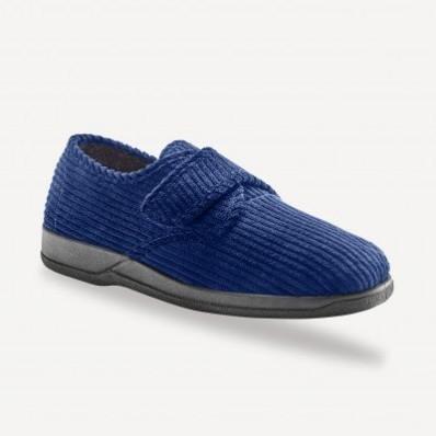 Velúrové papuče na suchý zips