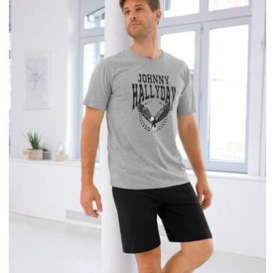 Pyžamo so šortkami Johnny Hallyday