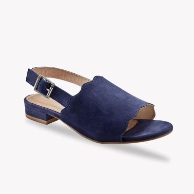 Sandále z kožené usne, námornícka modrá