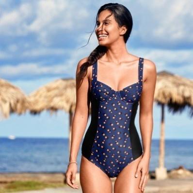 Jednodielne plavky Tissi, s kosticami
