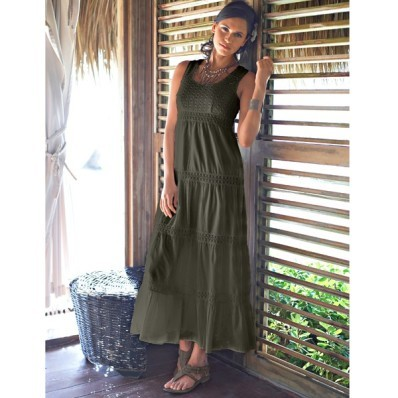 Dlouhé šaty, jednobarevné