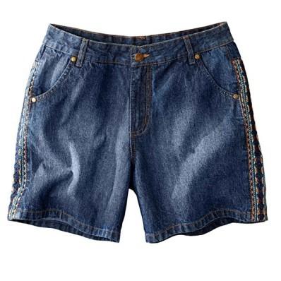 Džínové šortky s výšivkou