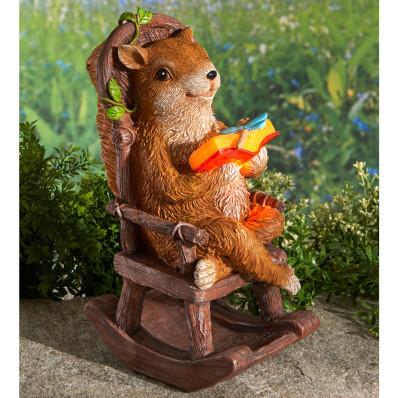 """Solárne svetlo """"Veverička s knihou"""""""