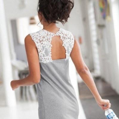 Noční košilka s macramé zády