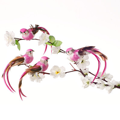 4 dekoratívne vtáčiky