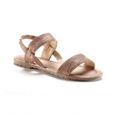 Ploché sandály se vzorem hadí kůže