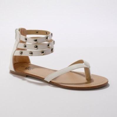 Žabkové sandály, bílé