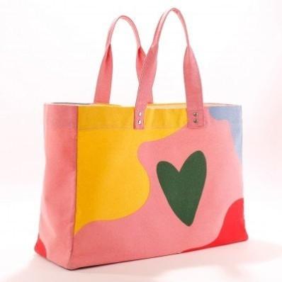 Látková taška s farebnou potlačou
