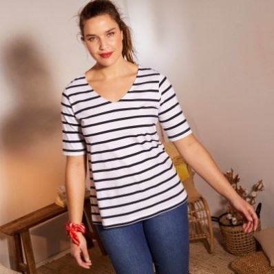 Tričko s pruhy a krátkými rukávy