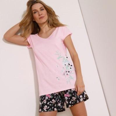 Pyžamové šortky s potiskem květin