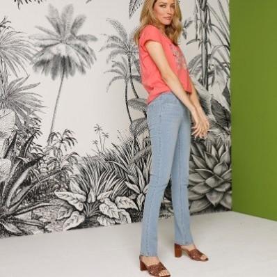 Rovné bielené džínsy, eco-friendly