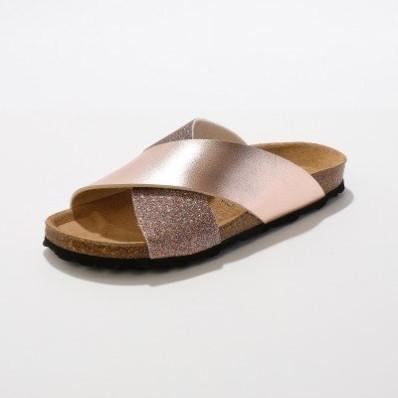 Pantofle s překříženými pásky
