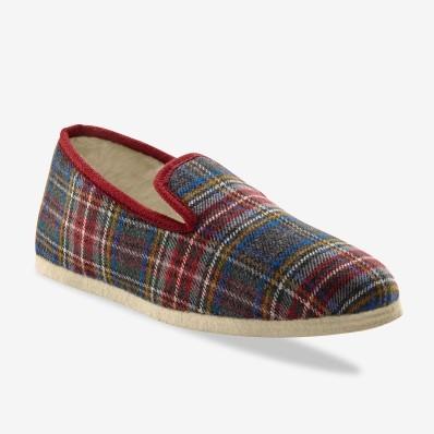 Papuče s umelou kožušinou, filcová podrá