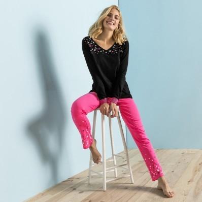 Pyžamové tričko s dlhými rukávmi, motív