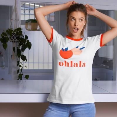 """Dámské tričko s potiskem """"Oh la la"""""""