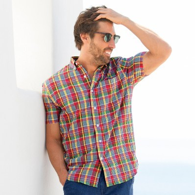 Kostkovaná košile s krátkými rukávy seer