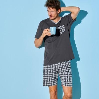 Pyžamové tričko s krátkými rukávy, antra