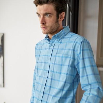 Kostkovaná košile s dlouhými rukávy