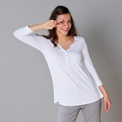 Tričko s gombíkmi, jednofarebné