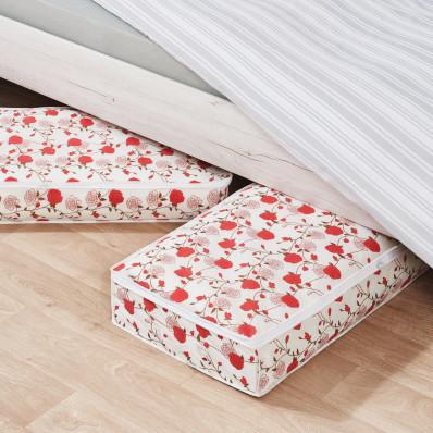 """2 úložné boxy pod postel """"Růže"""""""