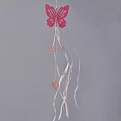 Decoratiune suspendata din lemn Fluture