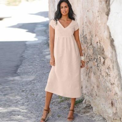 Šaty z bavlny/lnu
