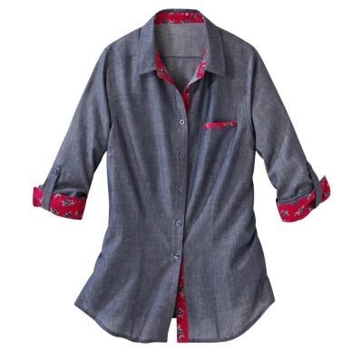 Košile s džínovým efektem