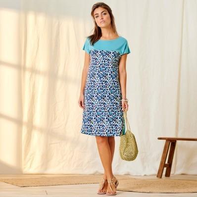 Úpletové šaty s potiskem