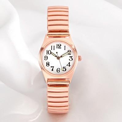 Mały zegarek na rękę, różowe złoto