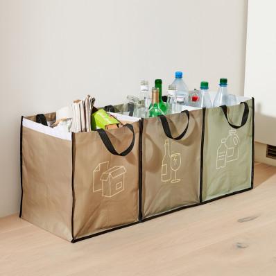 3 tašky na triedený odpad